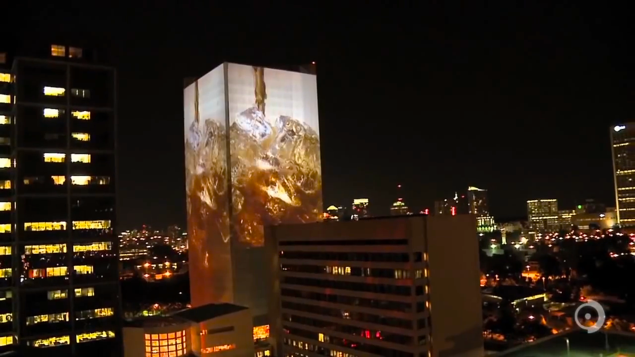 Worlds Largest Single Building Illumination Celebrating Coca-Cola Co. 125th Anniversary_01630